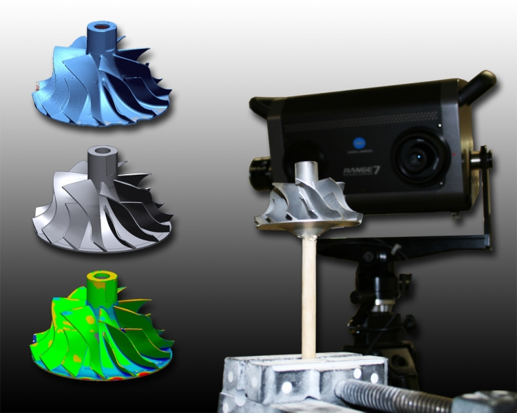 Impeller scan to CAD data