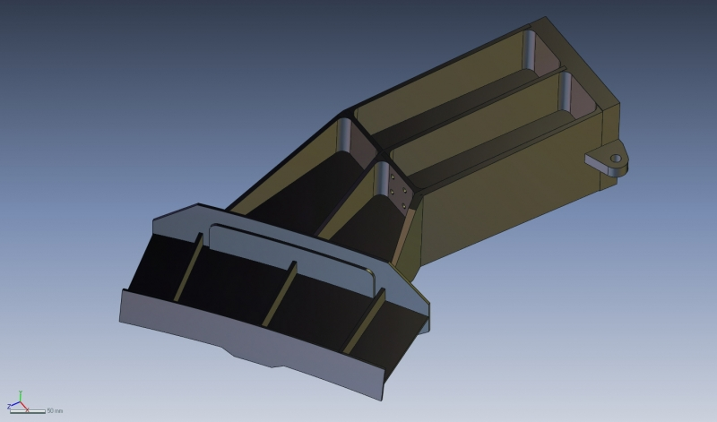 Aerospace structural member feature based solid model rendered