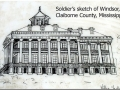This 1863 sketch by Union officer Henry Otis Dwight may be the only image of Windsor House.