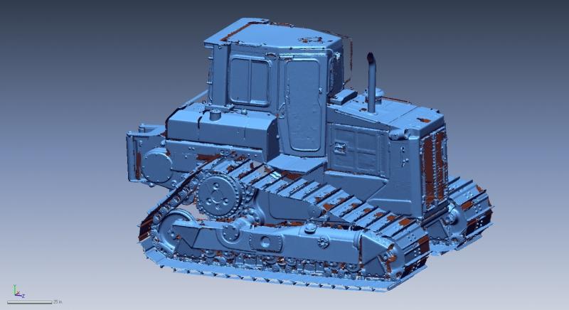 3D scan of a bulldozer