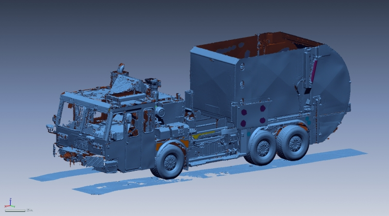 3D scan of a garbage truck