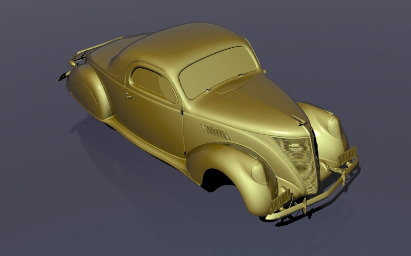 3D scanning of a car