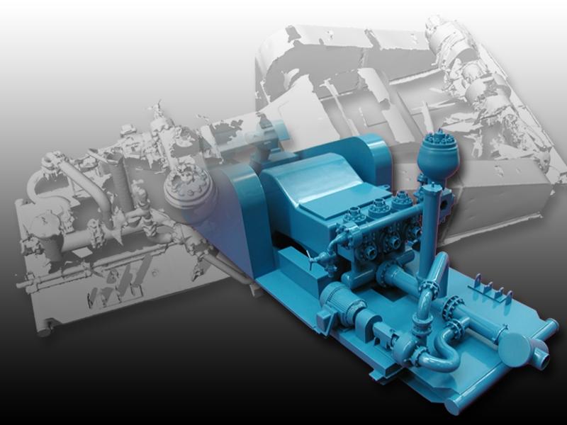 3D scan of an industrial pump