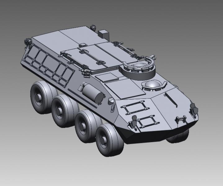 CAD model of a LAV