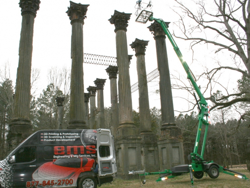 3D scanning from 40 feet in the air