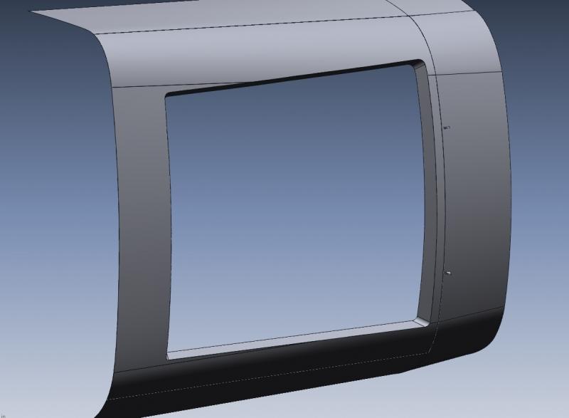 CAD model from scan data of door opening