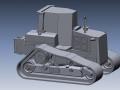 CAD data of bulldozer